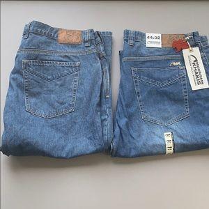 Two pairs of mountain Khakis Jeans